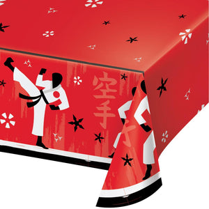 Karate Party Paper Tablecover 54 in. X 102 in.   1 ct.