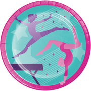 9 in. Gymnastics Party Lunch Plates 8 ct.
