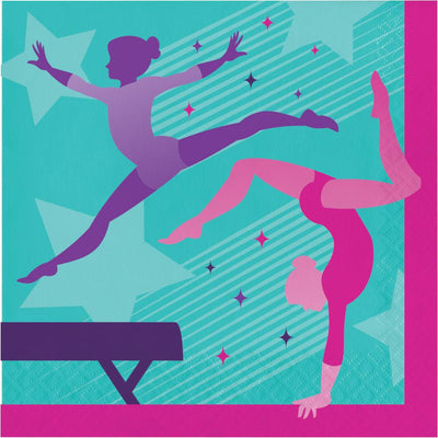Gymnastics Party Lunch Napkins 16 ct.