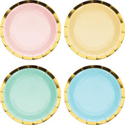 7 in. Pastel Celebrations Assorted Dessert Plates 8 ct.
