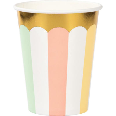 9 oz. Pastel Celebrations Foil Cups 8  ct.