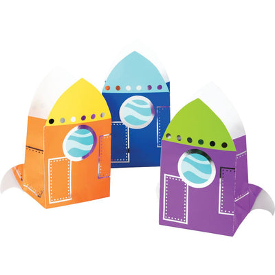 Space Party Foil Treat Bags 8 ct.