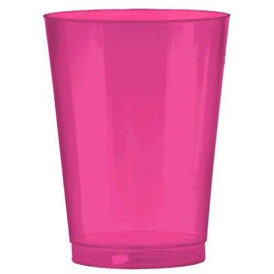 10 oz hot pink plastic cup 72ct