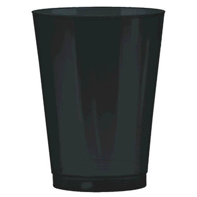 10 oz black plastic cup 72ct