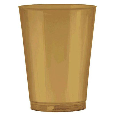 10 oz gold plastic cup 72ct