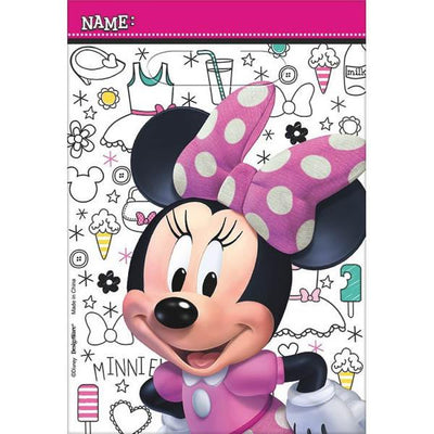 Minnie Mouse Happy Helper Loot Bags 8 ct