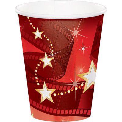 9 oz. Hollywood Lights Paper Cups 8 ct.