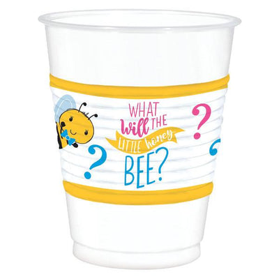 Little Honey Bee Plastic Cups 25 ct.