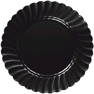 10 in black scallop plates 12ct