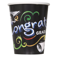Chalkboard Graduation 9oz Paper Cups  8ct