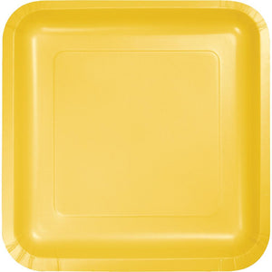 7 in. School Bus Yellow Square Paper Plates 18 ct.