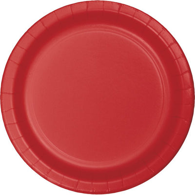 9 in. Classic Red Paper Lunch Plate 24 ct