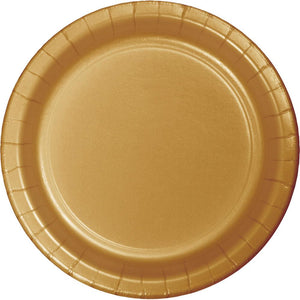9 in. Glittering Gold Lunch Paper Plates 24 ct