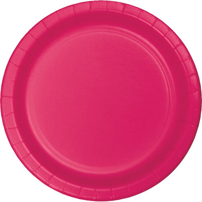 9 in. Hot Pink Paper Lunch Plates 24 ct