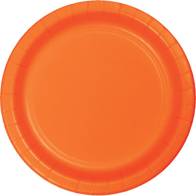 9 in. Sunkissed Orange Lunch Paper Plates 23 ct