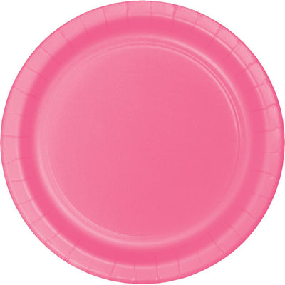 9 in. Candy Pink Paper Lunch Plates 24 ct