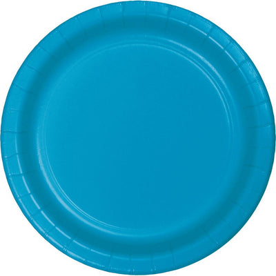 9 in, Turquoise Paper Lunch Plates 24 ct