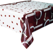 Football Plastic Tablecover 54 in. X 84 in. 1ct.