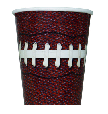 9 in. Football Paper Cups 8 ct