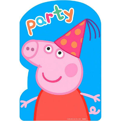 Peppa Pig Postcard Invitations  8 ct.