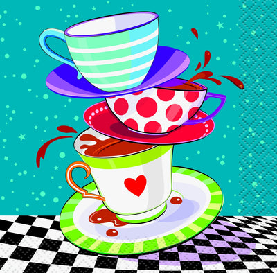 Mad Hatter Beverage Napkins 16 ct