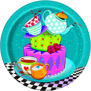 7 in. Mad Hatter Tea Paper Plate 8 ct