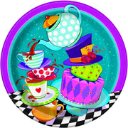 9 in. Mad Hatter Tea Paper Plates 8 ct