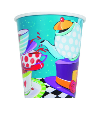 9 oz. Mad Hatter Tea Paper Cups 8 ct