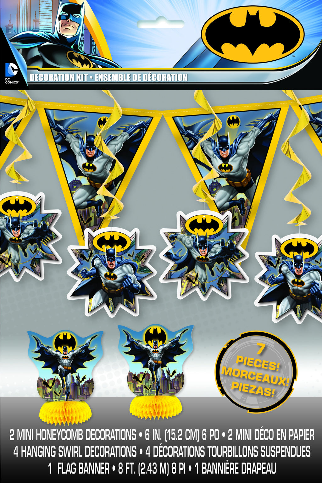 Batman Decorating Kit  7pc