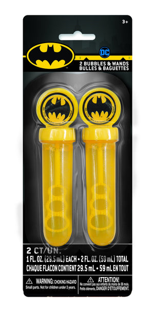 Batman Bubbles & Wands 1oz  2ct