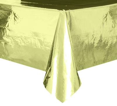 Gold Foil Rectangular Plastic Table Cover  54