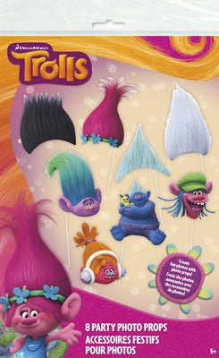 Trolls Photo Booth Props  8ct