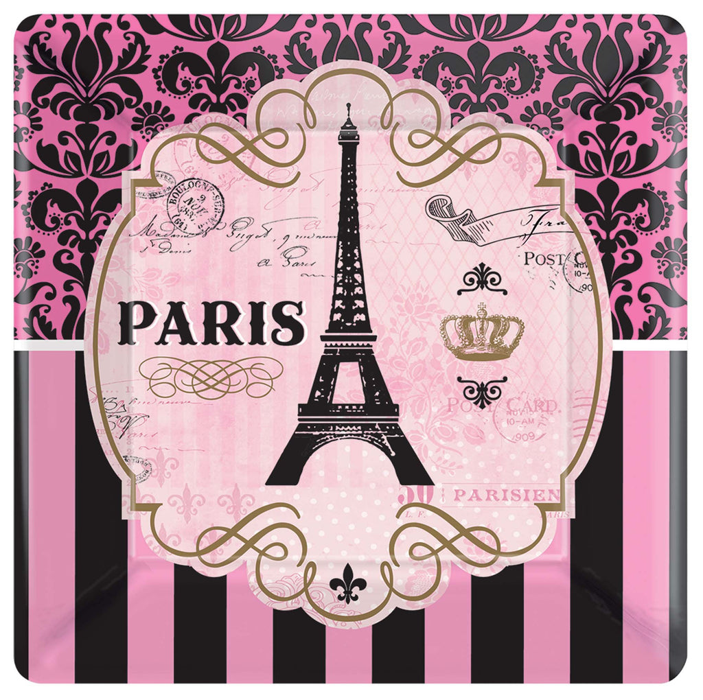 7 in. A Day in Paris Plates 8 ct.