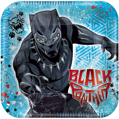 Black Panther Square Dessert Plates 8 ct.