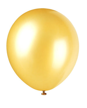 "12"" Latex Balloons  8ct - Gold"