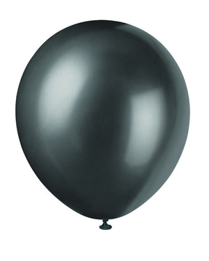 "12"" Latex Balloons  8ct - Shadow Black"