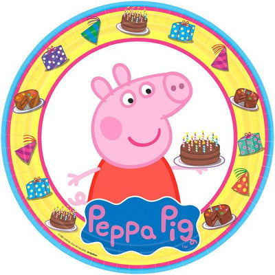 9 in. Peppa Pig Round Plates 8 ct.