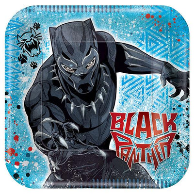 Black Panther Square Luncheon Plates 8 ct.