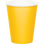 9 oz. School Bus Yellow Paper Cups 24 ct