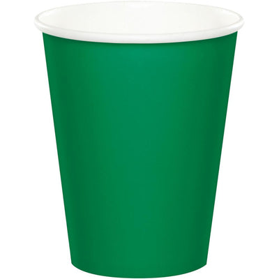 9 oz. Emerald Green Paper Cups  24 ct.