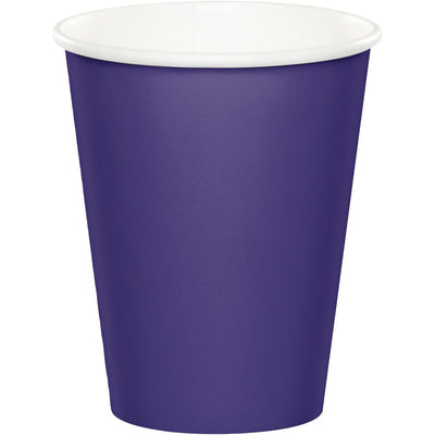 9 oz. Purple Paper Cups 24 ct
