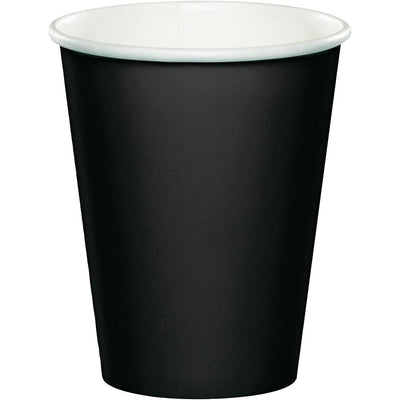 9 oz. Black Paper Cups 24 ct
