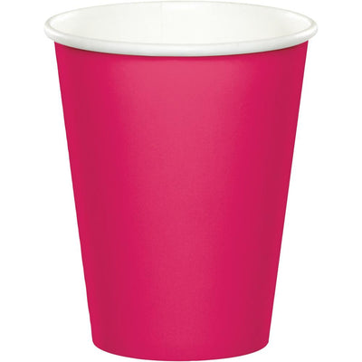 9 oz Hot Pink Paper Cups 24 ct