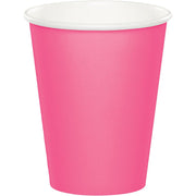 9 oz Candy Pink Paper Cups 24 ct