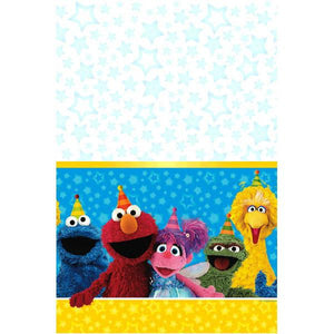 Sesame Street Plastic Table Cover  54 in.  X 96 in.   1 ct.