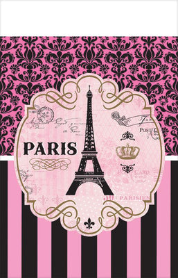 A Day in Paris Plastic Tablecover 1 ct.