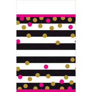 Pink And Gold Confetti Plastic Table Cover 1 ct. 54 in. X 102 in.