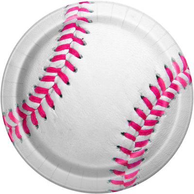 9 in. Baseball Paper Plates 8 ct