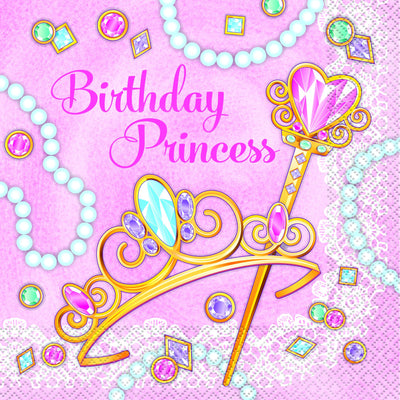 Pink Princess Luncheon Napkins 16 ct.
