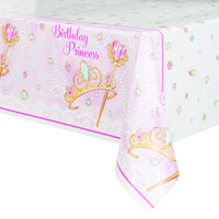 Pink Princess Plastic Tablecover 54 in. X 84 in. 1 ct